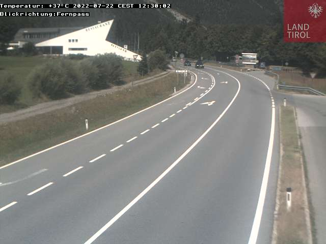 Webcam Nassereith - Rastland Richtung Fernpass Norden